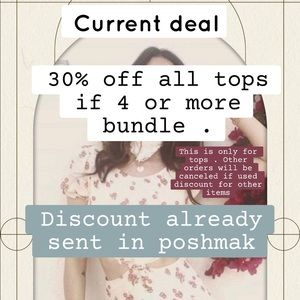 30% off TOPS ONLY !